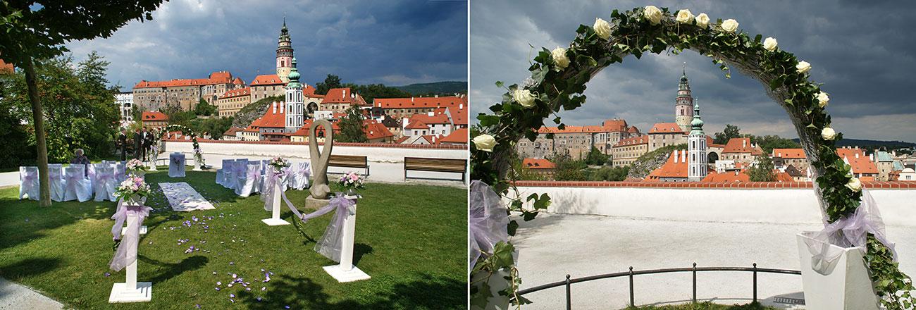 Kde mít svatbu - Český Krumlov - vyhlídka