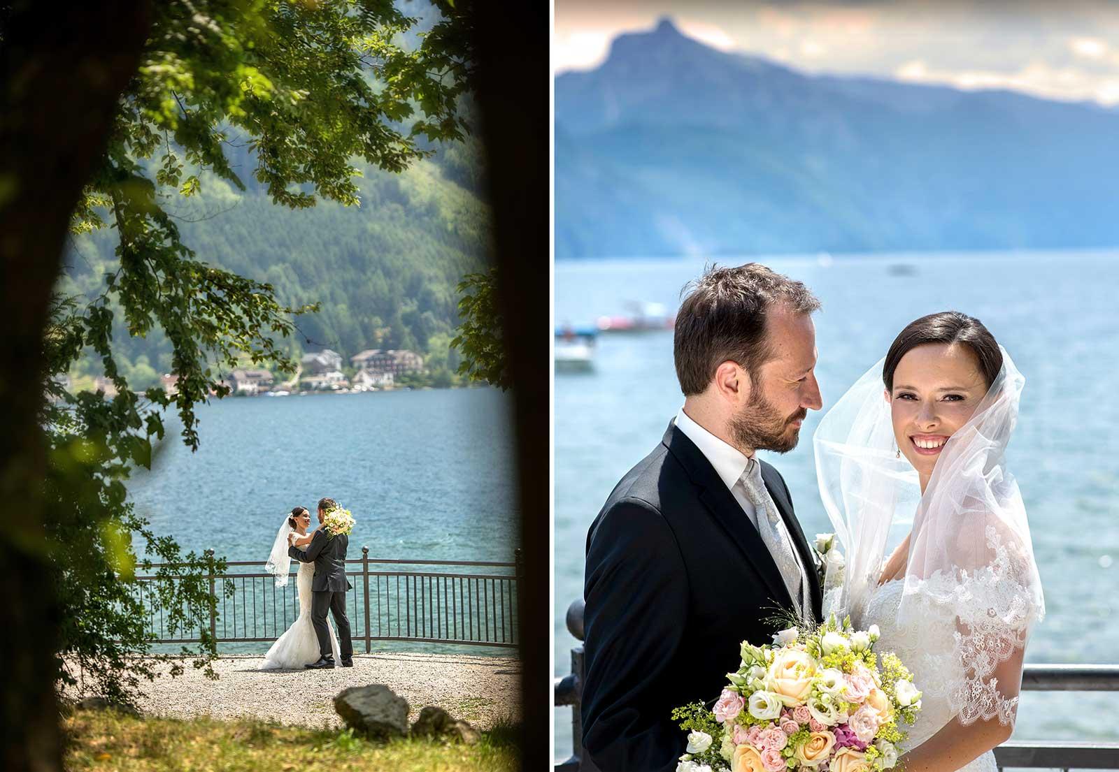 07 svatebni foto Brautigam und Braut am Traunsee