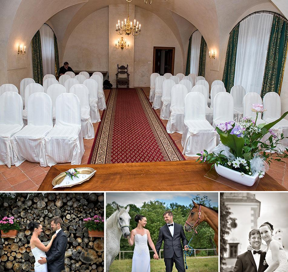 Svatební místo - Zámek Kratochvíle
